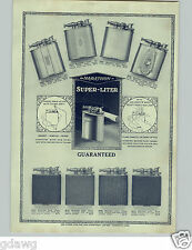 1928 PAPER AD Marathon Super Lighter Cigarette Leather Covered Niftee Case