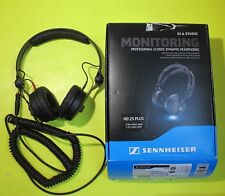 Sennheiser HD 25 Plus Professional DJ Headphone with Coiled & Straight Cable