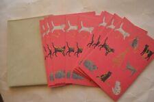 "(9) Vintage Roger La Borde ""Season Greetings� Christmas Kitty Cats Cards & Envel"