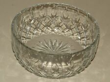 """GORGEOUS LARGE SIGNED * ROYAL BRIERLEY * GAINSBOROUGH CUT CRYSTAL 8"""" ROUND BOWL"""