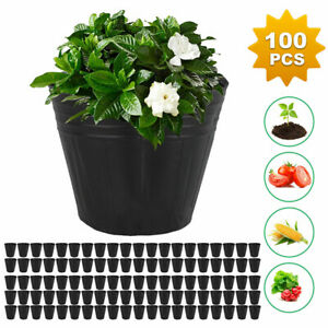 100pcs Garden Plant Nutrition Pots Flower plant Nursery Plastic Bowl Home