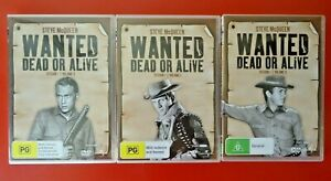 DVD - WANTED DEAD OR ALIVE - SEASON 1 - VOL 1, 2 , AND 3 - STEVE McQUEEN.
