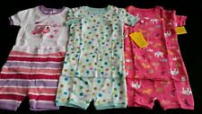 NWT BABY GAP CAMPING JUNGLE ANIMALS DOT GIRLS SHORT PAJAMAS LOT sz 2 2T