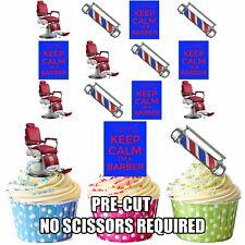 Precut Barbiers chaise Pole 12 Comestible Cupcake Toppers Décorations de fête
