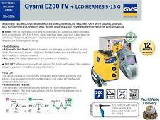 GYS MMA 200A MIG/MAG DIGITAL INVERTER SCHWEIßGERÄT + LCD HERMES 9-13 G Helm