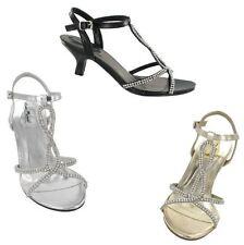 Anne Michelle Ladies Gold Kitten Heel Shoes