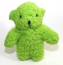 """Dog Toy Green Bear Plush Fleece Squeaky For All Sizes Of Dogs 8"""" NWT"""