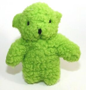 "Dog Toy Green Bear Squeaky Plush Fleece For Most Sizes Of Dogs 8"" NWT"