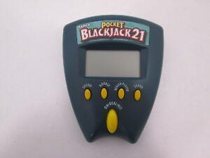 Radica Pocket Black Jack 21 Electronic Handheld Game 1999 TESTED