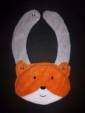 NEW Carter's Orange Fox Baby Boys Terry Cloth Teething Drool Bib