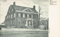Elizabeth Public Library, Elizabeth, New Jersey, Early Postcard, Unused