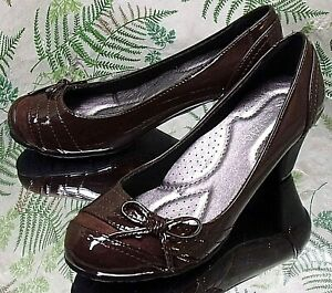 SPRING STEP PATRIZIA BROWN LEATHER LOAFERS SHOES HEELS US WOMENS SZ 6.5 7 EU 37