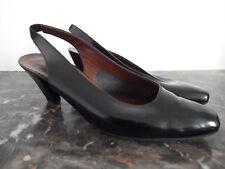 Escarpins Vintage JB MARTIN en cuir brillant noir P.4,1/2
