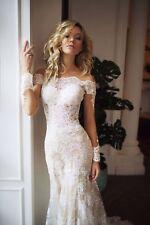 Mermaidschnitt Brautkleid Carmen Champagner abnehmenbare Rock Langarm Perlen