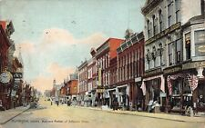 Postcard Business Portion of Jefferson Street in Huntington, Indiana~129102