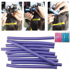 10 Pcs Soft Foam Hair Curling Curler Roller Bendy Twist Flexi Rods Styling Tools