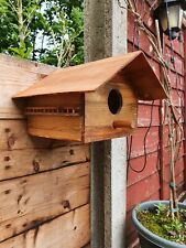 Hand made The Alpine House Wooden bird house complete with balcony