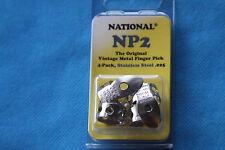 National Original Vintage Stainless Steel Finger Picks Set of 4, MPN NP2S-4PK