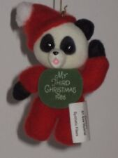 Hallmark Keepsake Ornament Child's Third Christmas 1986 - Plush Panda