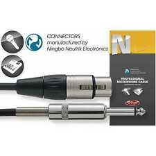 "Stagg NMC10XP 10m/33ft Professional Microphone Cable: XLR - 1/4"" Jack TRS Plug"