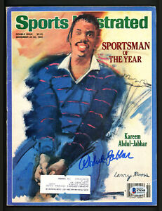 Kareem Abdul-Jabbar Autographed Signed Sports Illustrated Lakers Beckett S76368