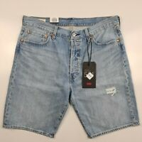 LEVI'S 501 Hemmed Denim Shorts In Marshmallow Short Dx Blue Men's NEW 365120069