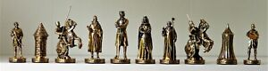 """FM """"Tournament at Camelot""""  Chess set in fitted case  K=3.5"""""""
