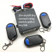 24V 30A dry contact 0Vout on-off relay switch with 3 remote key fob RX42-3