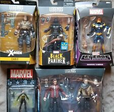 Marvel Legends Lot 5 Guardians of the Galaxy Nova Starlord Cable Black Panther