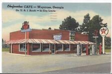 OKEFENOKE CAFE & BBQ RESTAURANT,TEXACO GAS STATION~WAYCROSS,GA ~PM 1950