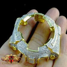 FULLY ICED OUT MEN'S & WOMEN'S G SHOCK GOLD PLATTED LAB DIAMOND CUSTOM BEZEL NEW