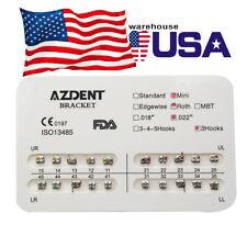 20X USPS AZDENT Dental Orthodontic Metal Bracket Brace MINI Roth Slot.022 Hook 3