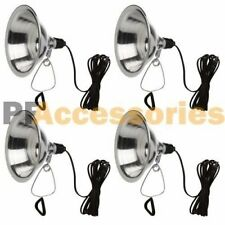 "4 Pcs Heavy Duty 8-1/2"" Aluminum Reflector Shade Clamp on Work Light Lamp ETL"