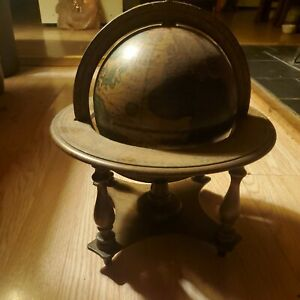 Olde World Globe with Zodiac & Astrology Signs, Made in Italy on Wooden Stand