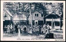 SIDNEY NY Institute Methodist? Vtg B&W 1937 Postcard