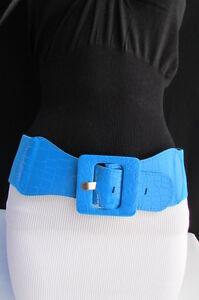 New Women Elastic Hip High Waist Belt Green Silver Coral Mocha Brown Navy Blue