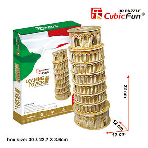 New Leaning Tower Of Pisa Italy 3D Model Children Jigsaw Puzzle 30 Piece MC053H