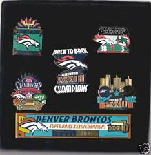 Denver Broncos 5 pin set Super Bowl XXXIII Back To Back LE #3981/10,000 boxed