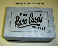 Original Maxx Race Cards Complete 1991 Collectors Set   Unopened   New In Box