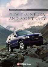 Vauxhall Frontera & Monterey 1995 UK Market Sales Brochure