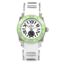 NEW Aquaswiss 62M053 Unisex Swissport Watch Stainless Steel Silicone White Green