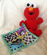 Fisher Price 2003 Baby Elmo Plush W/ Black Sheep Security Blanket Rattle