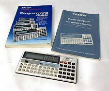 Vintage Tandy Radio Shack Pocket Computer PC-4 + Manual / Working