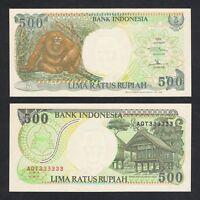 INDONESIA 500 RUPIAH 1992//1999 P 128 MONKEY UNC