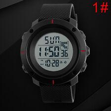 Fashion Mens Rubber LED Digital Date Military Quartz Sport Students Wrist Watch