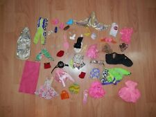 Lot of Vintage Barbie Clothing Accessories Earrings Shoes Racket Clothes 2843