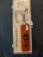 VINTAGE California SOUVENIR KEY RING MUSTACHE COMB Gift