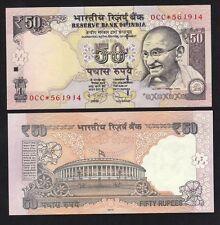 India 50 Rs (2012) P 104 REPLACEMENT Banknote #Prefix 0CC* Issue L - UNC