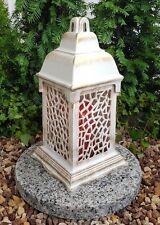 Lanterne de tombe+Piédestal de granit + Bougie Lampe grave Luminaire de Fossé