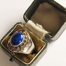 Vintage Sterling Silver Lapis Lazuli gemstone ring - UK size M Hallmarked 925